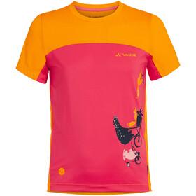 VAUDE Solaro T-Shirt II Kids, rosa/amarillo